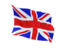 united kingdom fluttering flag 64